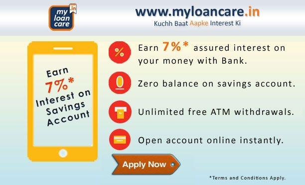 Earn 7%* on Savings Account